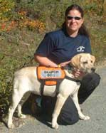 See the North Idaho Search Dog Link below for more information and progress of Sappho